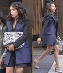 Kerry Washington Leaving Her Hotel In Soho