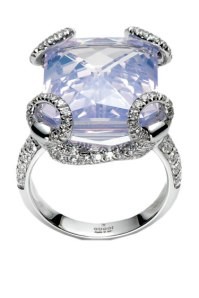 Gucci Horsebit Cocktail Ring in 18kt white gold, lilac quartz and diamonds 9850