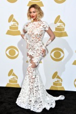 How to wear sexy sheer white dress inspired by Beyoncé at 2014 Grammy Awards