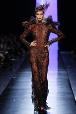 Spotted: Joan Smalls, Cindy Bruna, and Seniat Gidey at Jean Paul Gaultier Haute Couture Spring2014