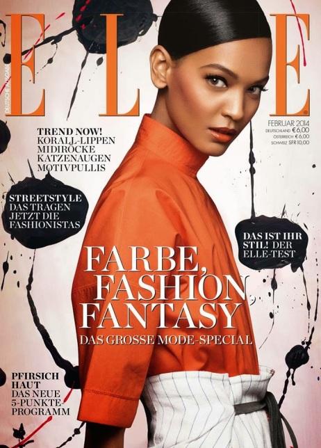 Liya Kebede for Elle Germany February 2014