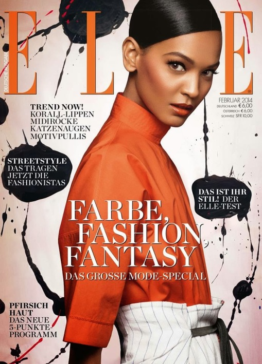 Liya Kebede for Elle Germany February 2014