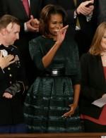 Michele Obama in Azzedine Alaia Dress for 2014 State of UnionAddress