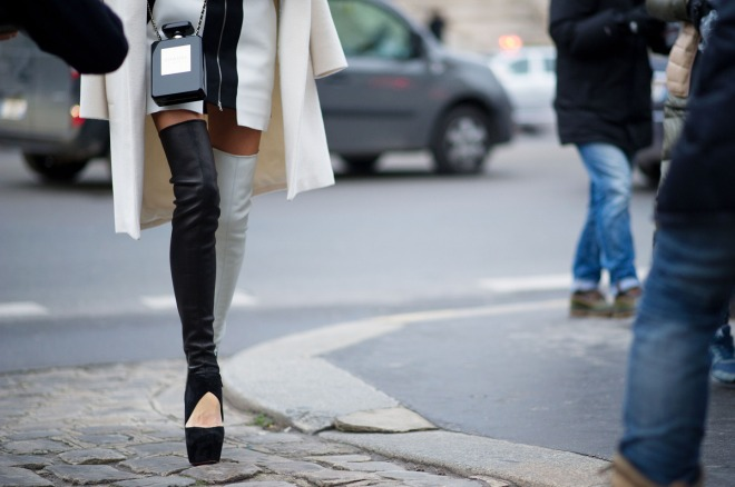Paris boots and chanel purse