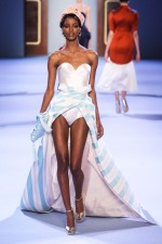 Spotted: Senait Gidey and Maria Borges at Ulyana Sergeenko Haute Couture2014