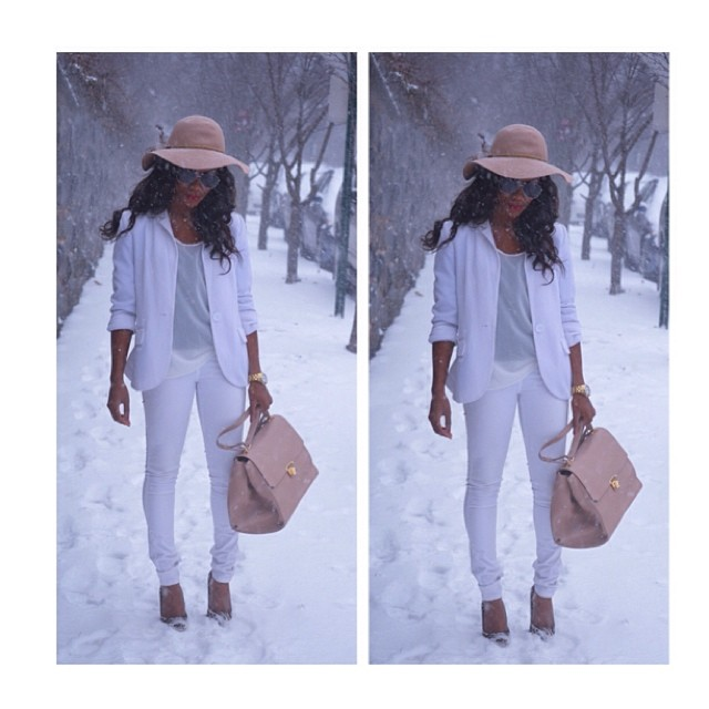Street Style: Winter White Glam