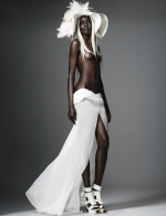 Nude Black Models for Vogue Germany March2014