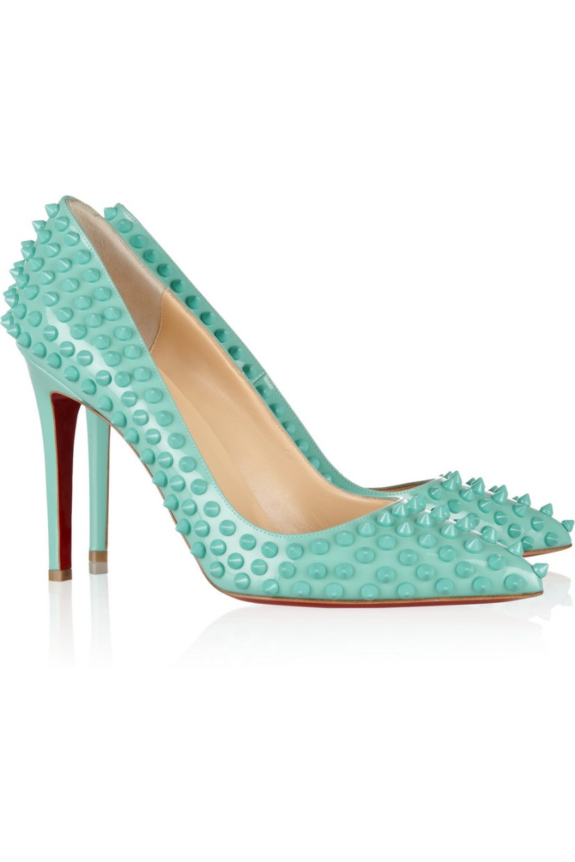 Wish List: Christian Louboutin Turquoise PigalleSpikes