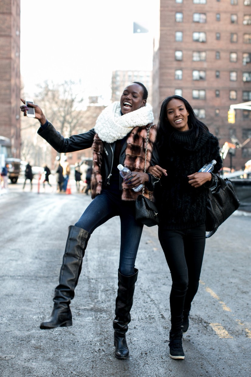 Street Style Snap Shot: Ajak Deng, Fatima Siad and Nykhor Paul at NYFW F/W14