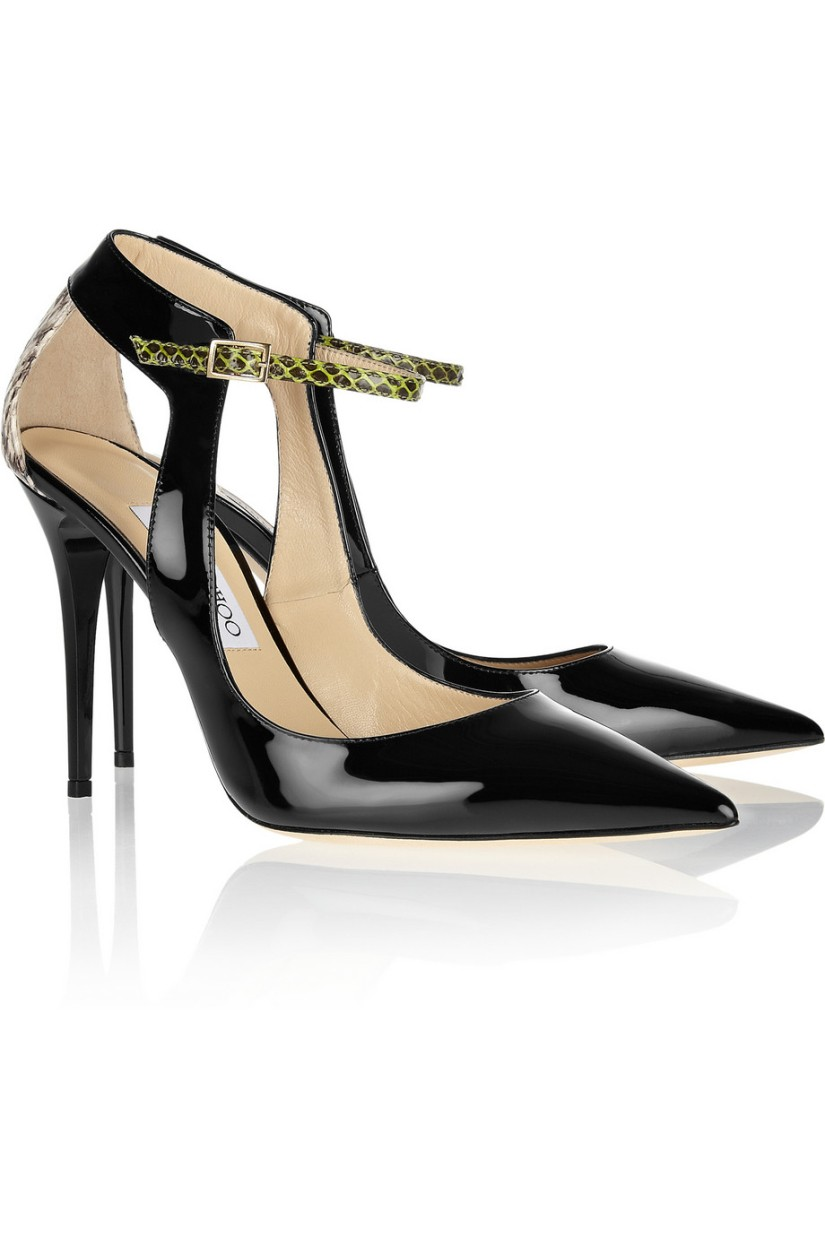 Wish List: Jimmy Choo Mystic Patent-Leather Elaphe Pumps