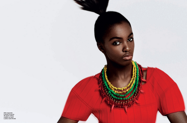 Leomie Anderson for D-LA Repubblica Magazine February 2014 Edition