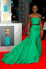 Spotted: Lupita Nyong'o at BAFTA Awards 2014
