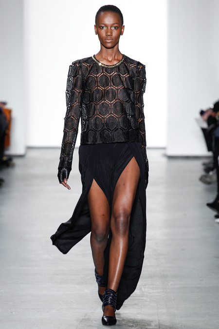 Spotted: African High Fashion Models at New York Fashion Week 2014 F/W (Day 7)