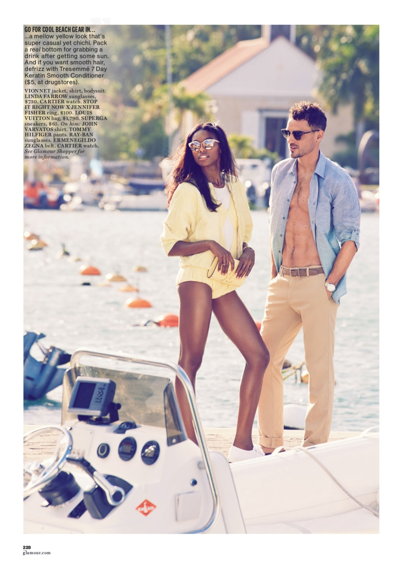 Angolan Beauty Sharam Diniz for Glamour Magazine April 2014 Edition