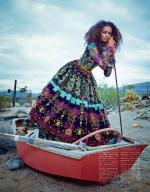 Kenyan-Born Model Malaika Firth for Vogue Japan