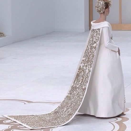 back of chanel maternity gown