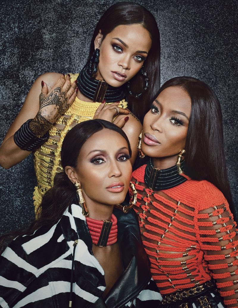Black is Beautiful-Balmain Editorial for W Magazine, SeptemberIssue