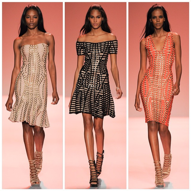 African High Fashion Models at Hervé Leger by Maz Azria
