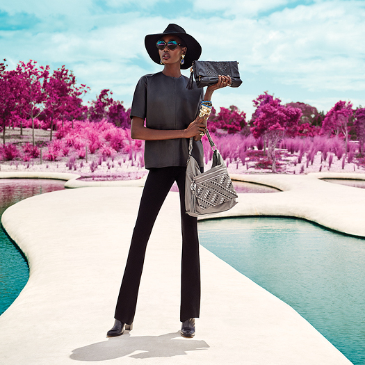 Ajak Deng for Mimco Spring 2015 Campaign
