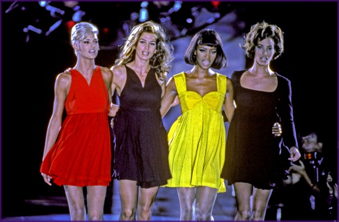 VERSACE AUTUMN WINTER FASHION SHOW MILAN, 1991